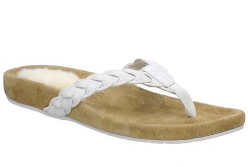 UGG McKenzey Zehensteg-Sandale weiß