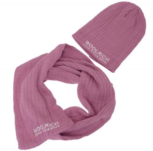 Woolrich Schal & Mütze alt-rosa
