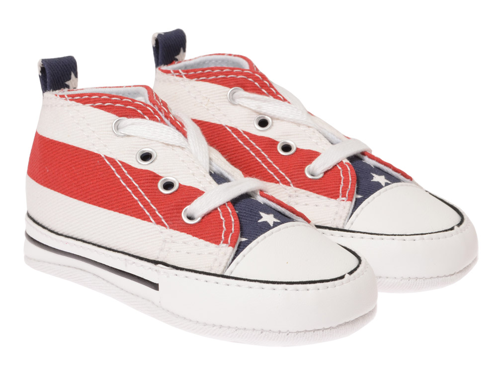 converse chucks krabbelschuhe 7j254 rot weiss. Black Bedroom Furniture Sets. Home Design Ideas