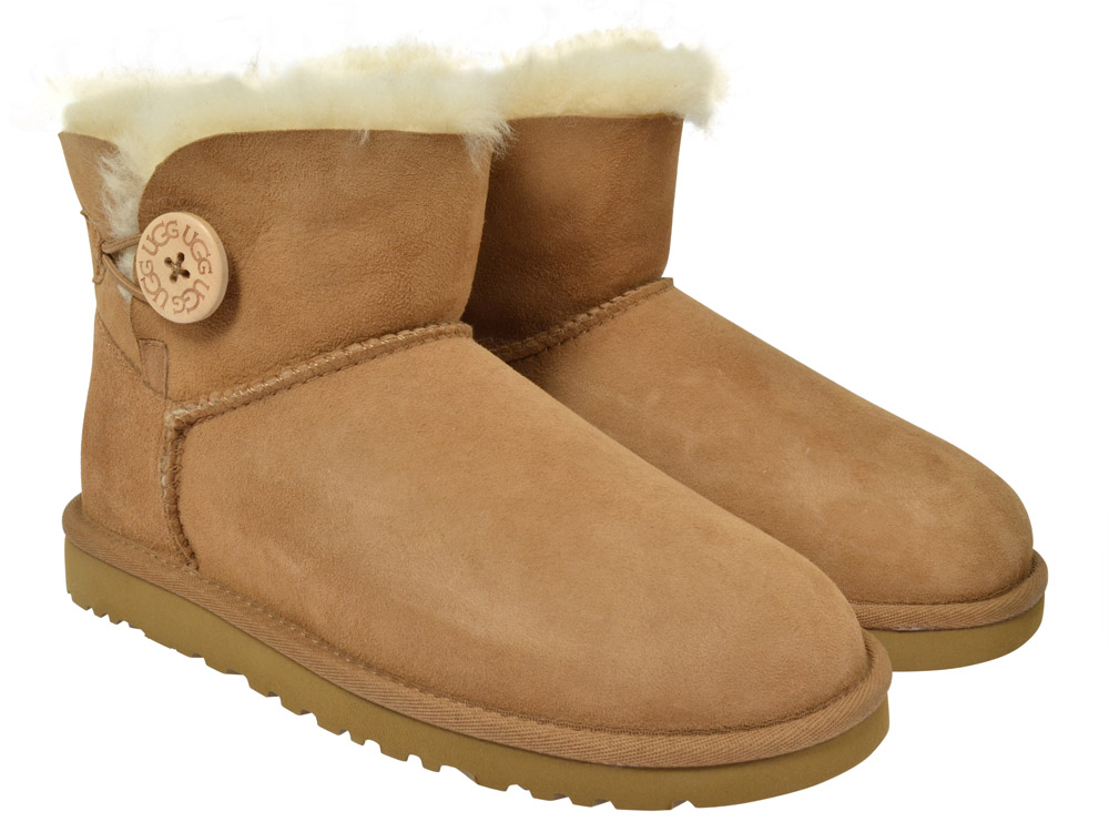 ugg boots mini bailey button chestnut kinderschuhe g nstig online kaufen. Black Bedroom Furniture Sets. Home Design Ideas