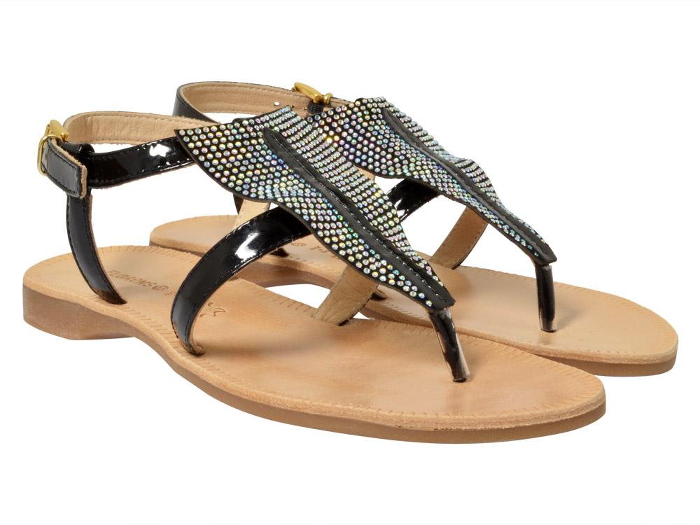 florens sandale f7685 schwarz kinderschuhe g nstig. Black Bedroom Furniture Sets. Home Design Ideas