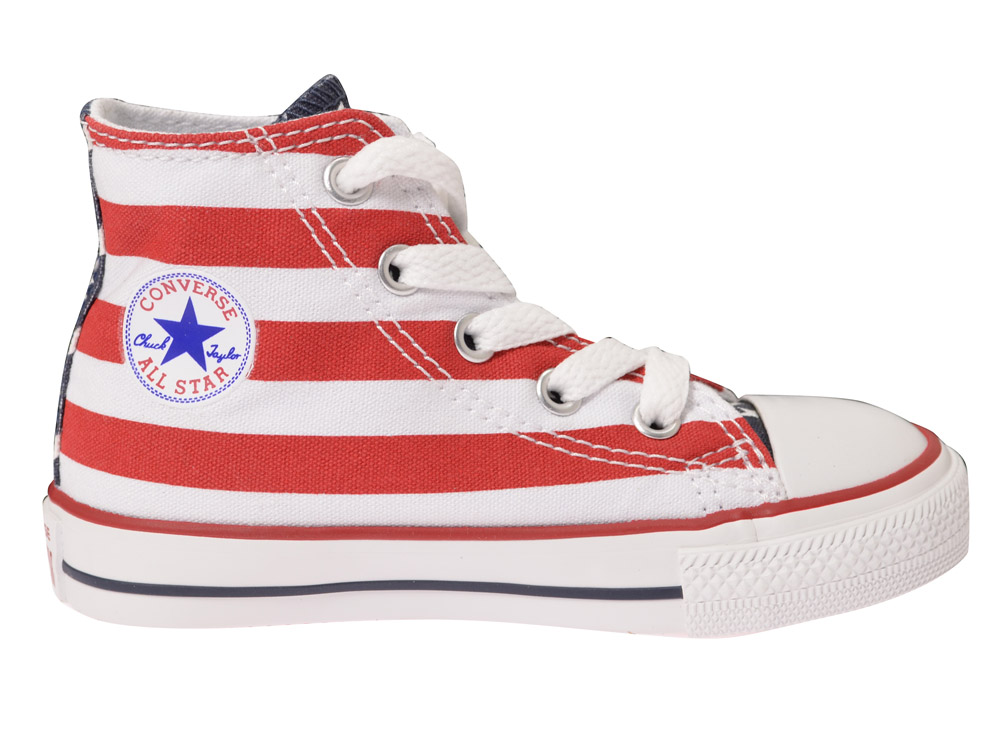 converse chucks hi sneaker 7j254 rot weiss kinderschuhe. Black Bedroom Furniture Sets. Home Design Ideas