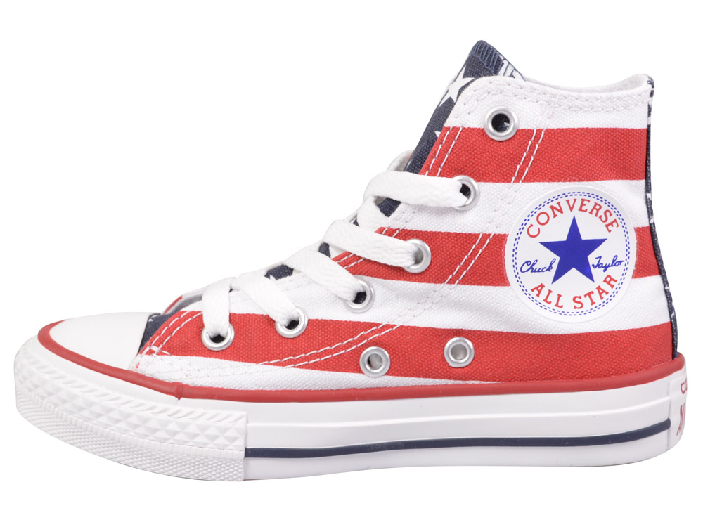 converse chucks hi sneaker 3j254 rot weiss kinderschuhe. Black Bedroom Furniture Sets. Home Design Ideas